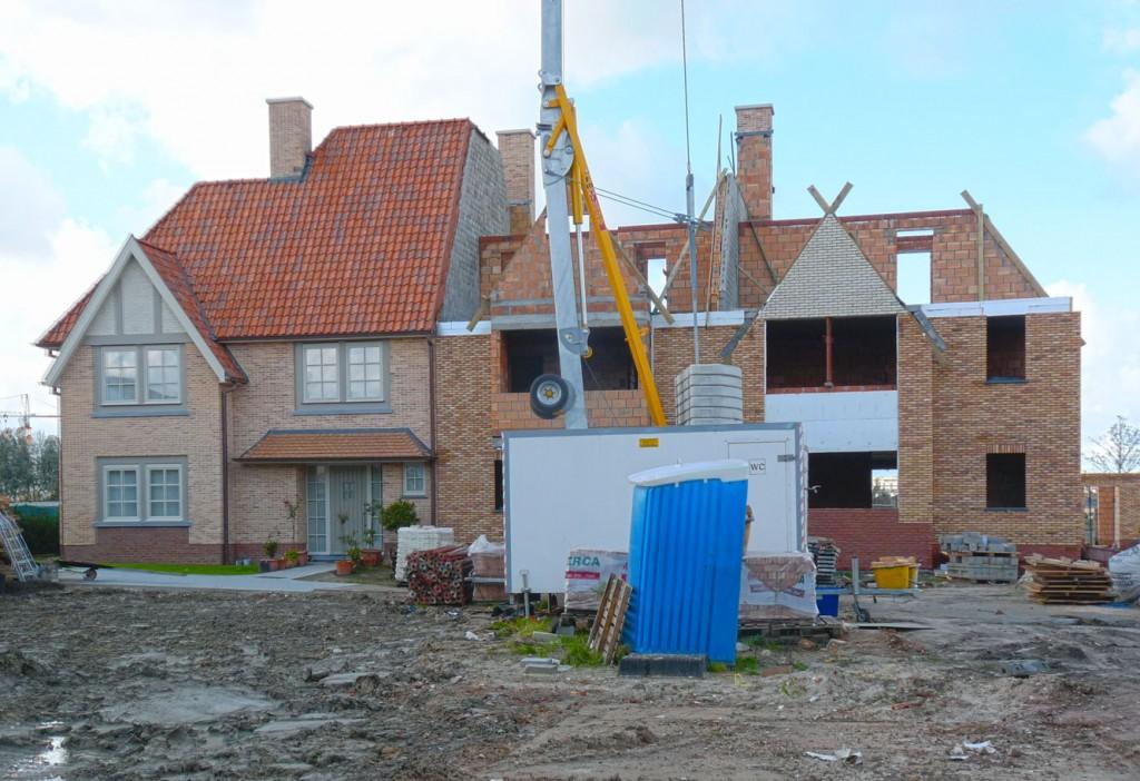Bouwwerken Dhaens, Nieuwbouw Gekoppelde gezinswoning Knokke, P1050046-W