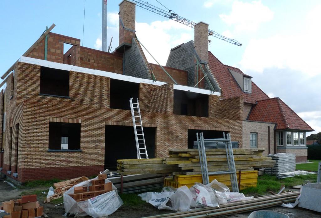 Bouwwerken Dhaens, Nieuwbouw Gekoppelde gezinswoning Knokke, P1050059-W