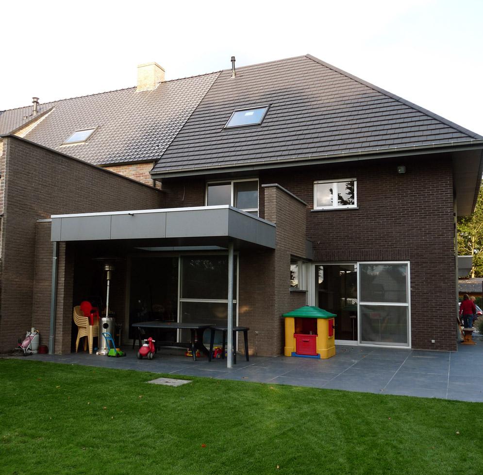 Bouwwerken Dhaens, Halfopen gezinswoning, Beernem, P1050078-W