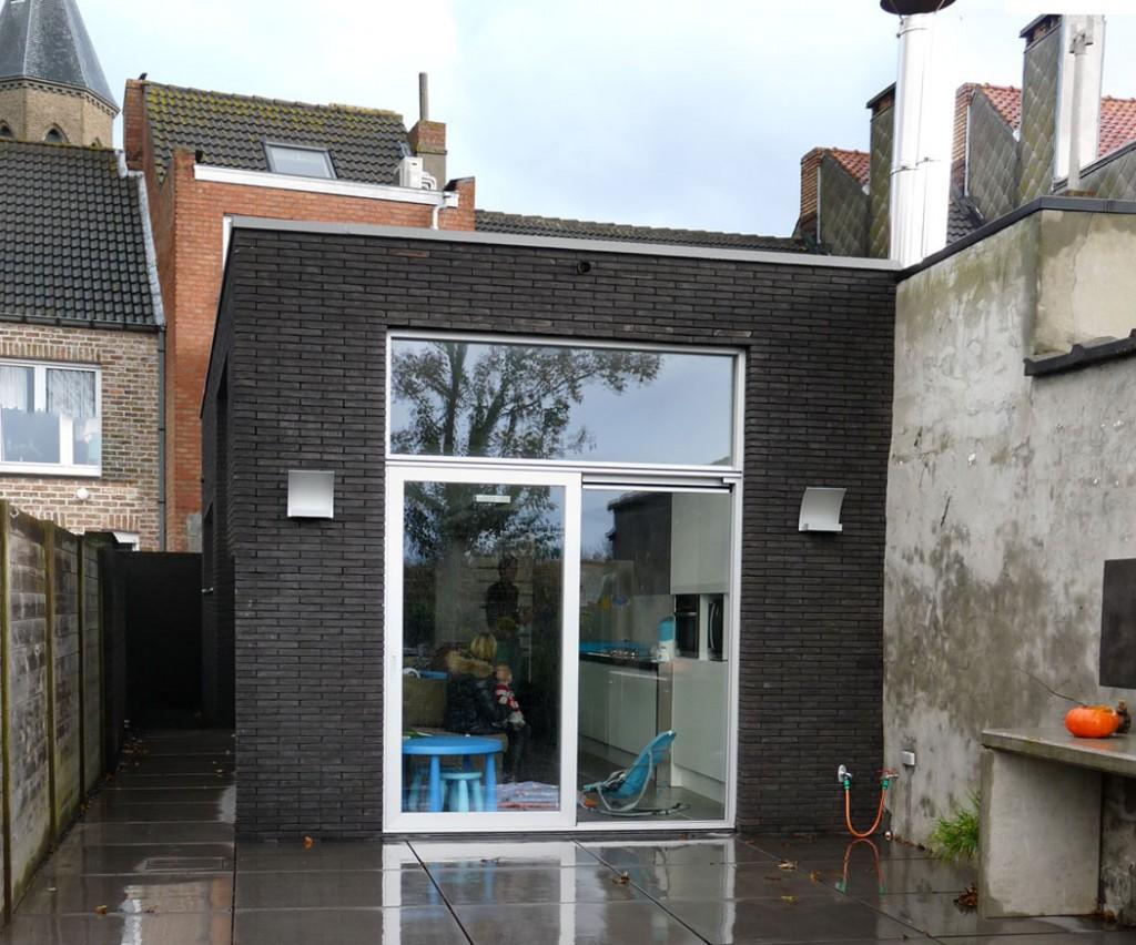 Bouwwerken Dhaens, Renovatie Achterbouw woning, Zandvoorde, P1050105-W