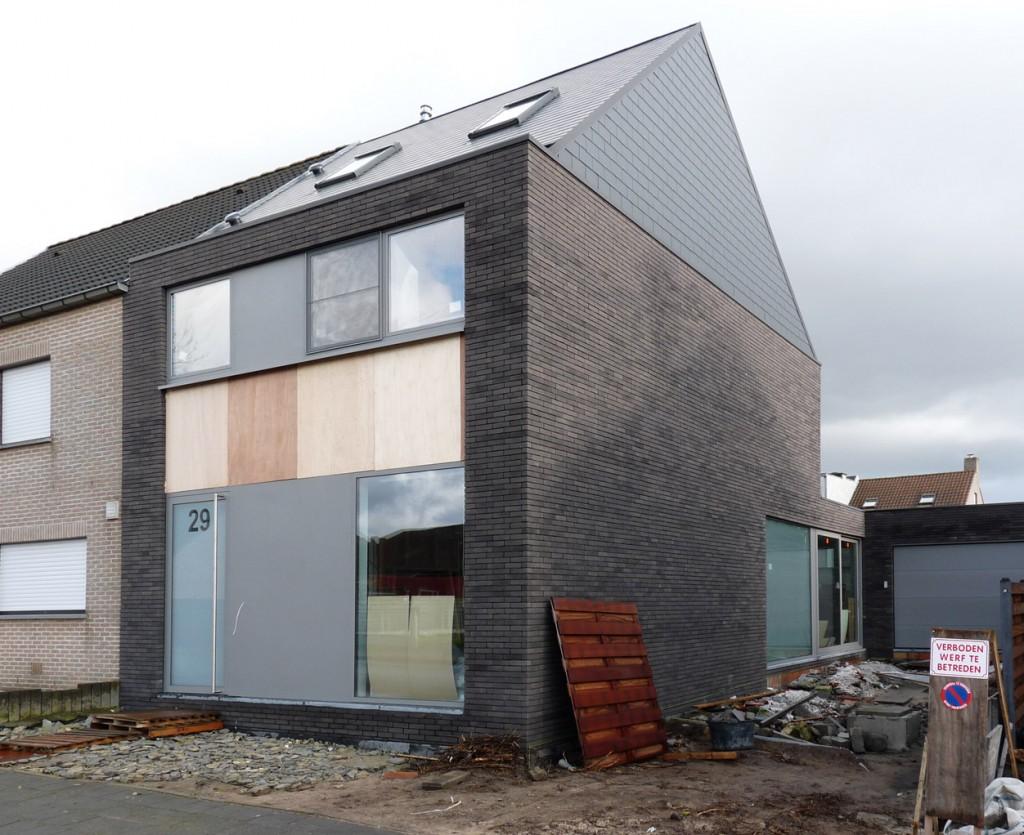 Bouwwerken Dhaens, Nieuwbouw Halfopen bebouwing, Assebroek, P1050121-W