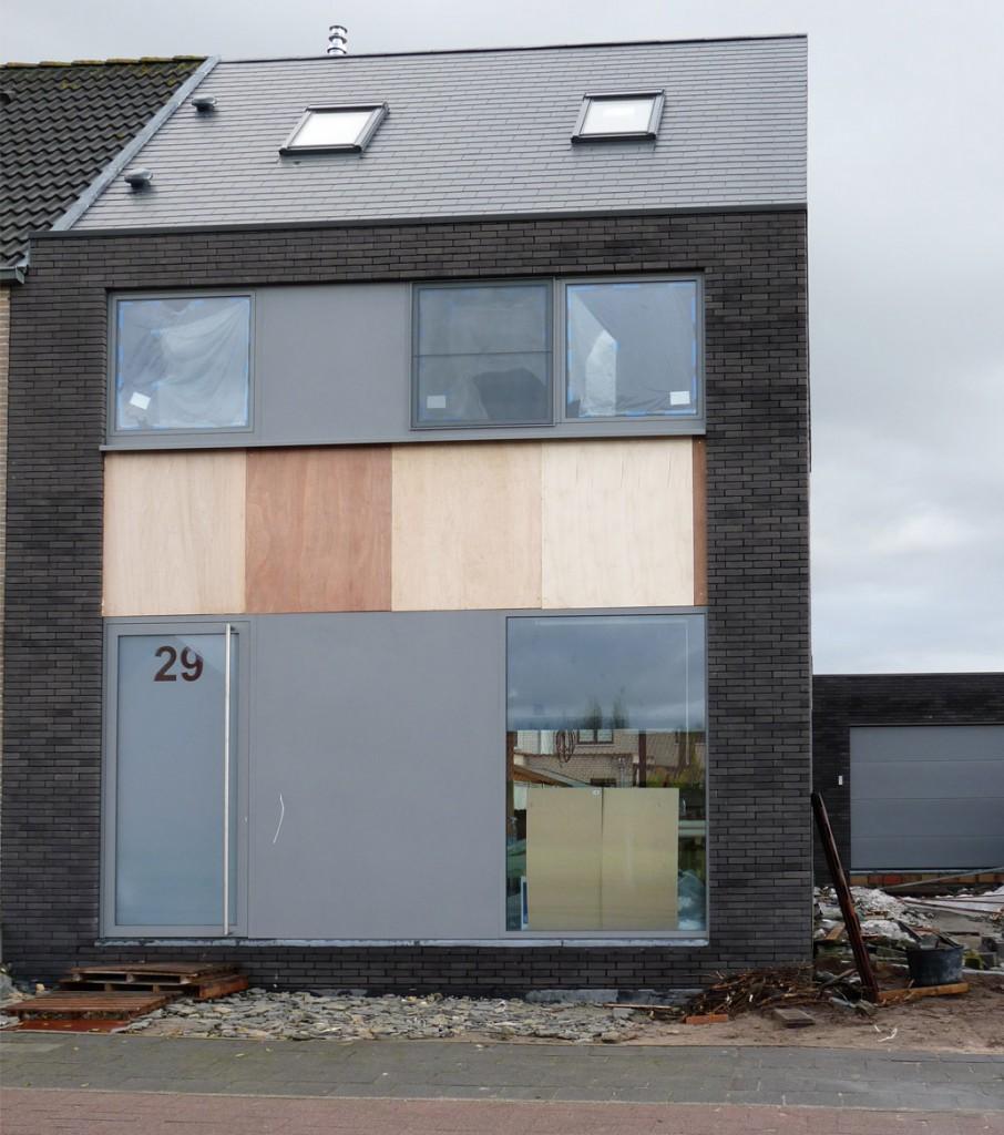 Bouwwerken Dhaens, Nieuwbouw Halfopen bebouwing, Assebroek, P1050123-W