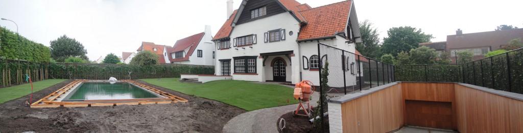 Bouwwerken Dhaens, Nieuwbouw Villa Knokke, knokkezwembadvillapano1